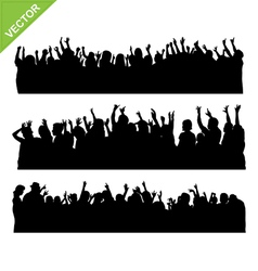 Crowd concert silhouettes vector