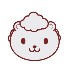 Cute sheep face image vector