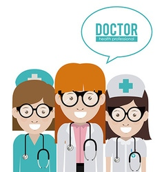Doctor design vector image