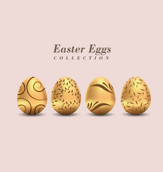 easter golden egg traditional spring holidays in vector image
