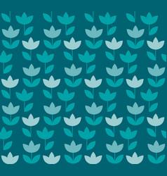 elegant blue color holland tulip repeatable motif vector image