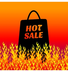 Fire background sale vector