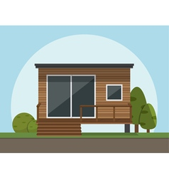 flat style house icon vector image