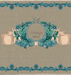 floral cartouche vector image