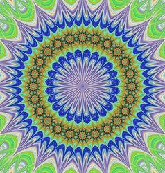 Geometric floral mandala background vector