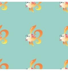 Goldfish marine seamless pattern background vector image