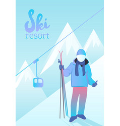 gorgeous ski resort poster vector image