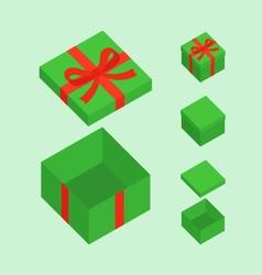 Green Christmas Box vector image