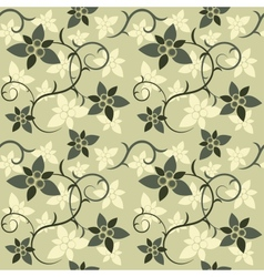 Green Floral Seamless vector