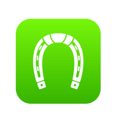 horseshoe icon green vector image