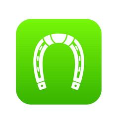 horseshoe icon green vector image