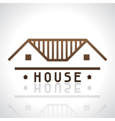 House logo template Real estate design concept vector image