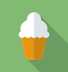 Ice cream icon Modern Flat style with a long vector image