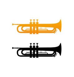 Icon of golden trumpet vector