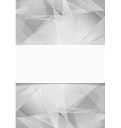 Light grey low poly tech background vector
