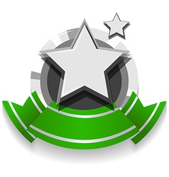 Logo design with ribbon and star vector image