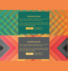 modern design web pages set vector image