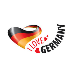 national flag germany and the vector image