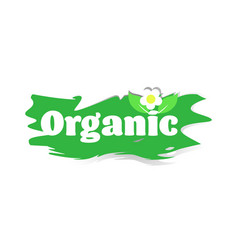 Natural healthy vegan market logo organic sticker vector