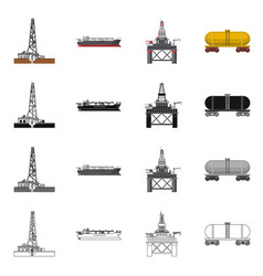 oil and gas logo set of vector image