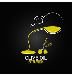 Olive oil design menu background vector