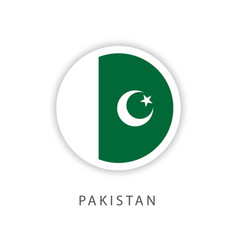 Pakistan circle flag template design vector