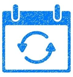 Refresh Calendar Day Grainy Texture Icon vector