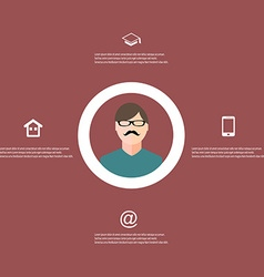 resume template infographic vector image