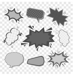 retro comic book speech bubbles cartoon vector image
