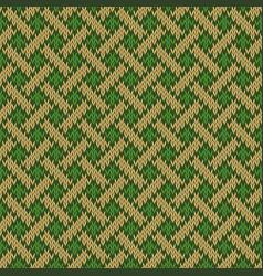 Seamless knitted wool irish-saxon ornament vector