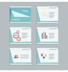 Set templates infographics for presentations vector image