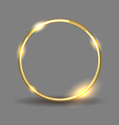 shiny golden ring vector image