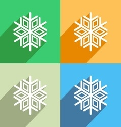 Snowflake icon Menu icon vector