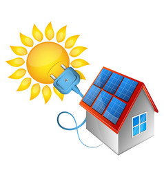 solar energy electricity in house vector image