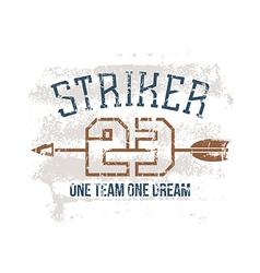 Sports print striker vector image