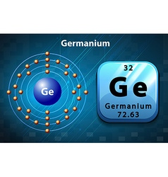 Symbol and electron diagram for Germanium vector image