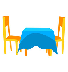 Table and chairs cafe furniture dining vector