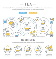 Tea Web Banner vector