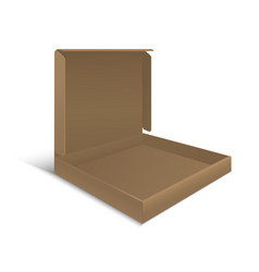 Template Blank Cardboard Pizza Open Box vector