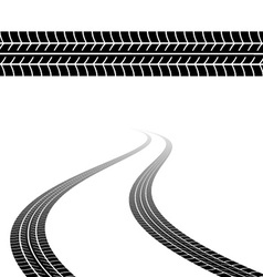 Trace tyres vector
