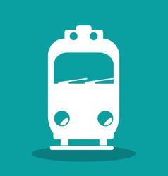 tram transport public icon vector image