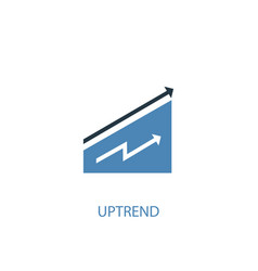 uptrend concept 2 colored icon simple blue vector image