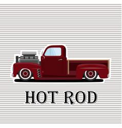 Vintage car a isolated vector
