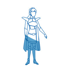 Warrior princess armor cape costume halloween vector