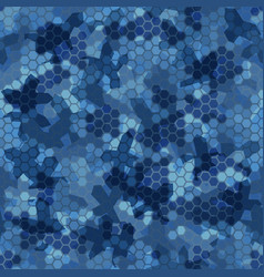 water blue halftone camouflage seamless pattern vector image