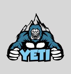 yeti monster for mascot logo vector image