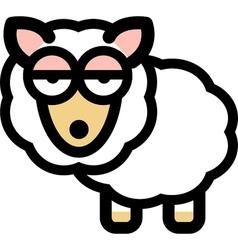 Cartoon sleepy sheep vector image
