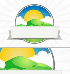Clean mountain seal vector image vector image