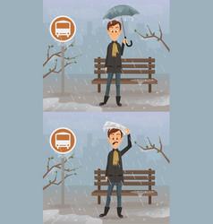 happy and sad man character vector image