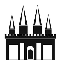 kingdom palace icon simple style vector image